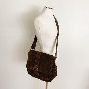 Fossil | Brown Corduroy Messenger Bag